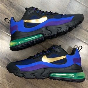 NIKE AIR MAX 270 REACT black/university gold
